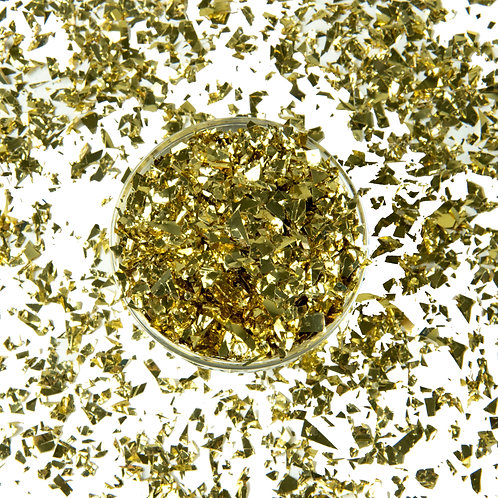 Metallic Gold Confetti Scattered Flakes