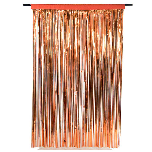 Metallic Copper Photobooth Curtain