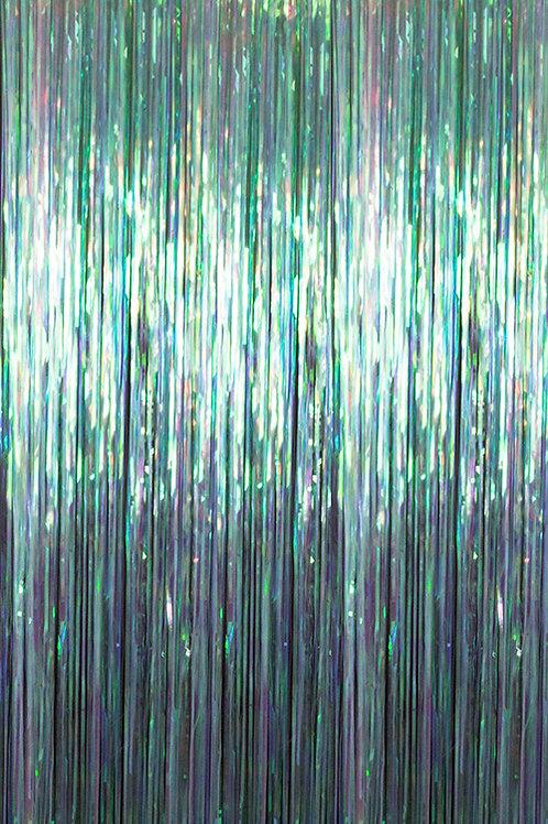 Iridescent Iris Fringe Curtain