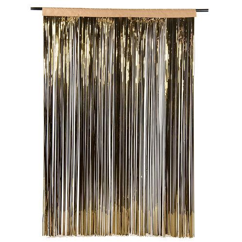 Metallic Bronze Fringe Curtain