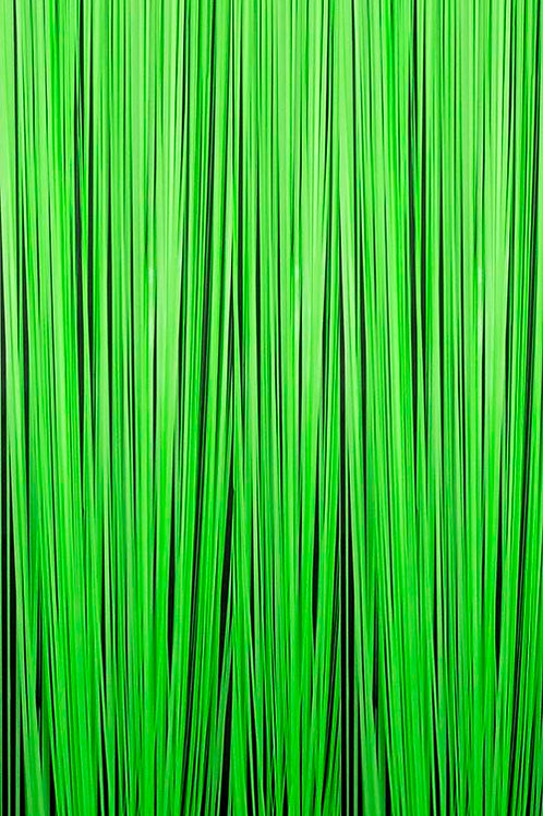 Green Neon Fringe Curtain