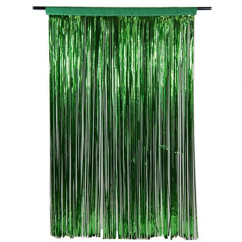 Metallic Green Fringe Curtain