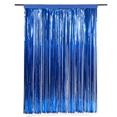 Metallic Flag Blue Photobooth Curtain