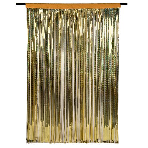 Diffraction (Holographic) Gold Photobooth Curtain