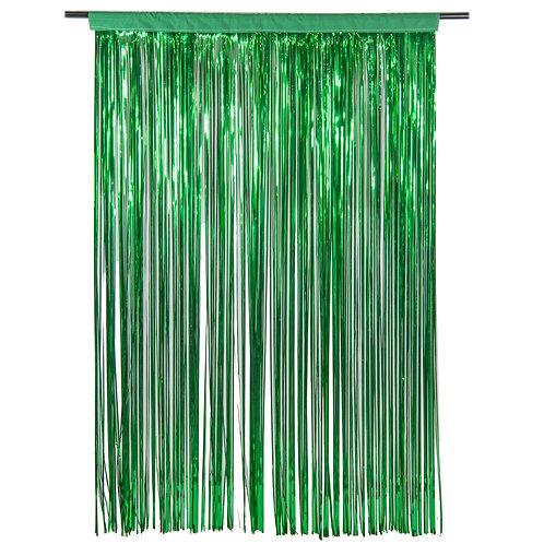 Metallic Moss Green Photobooth Curtain