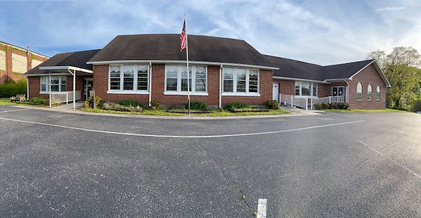 This image features the Cannon County Senior Center building! It is a one story, brick building.