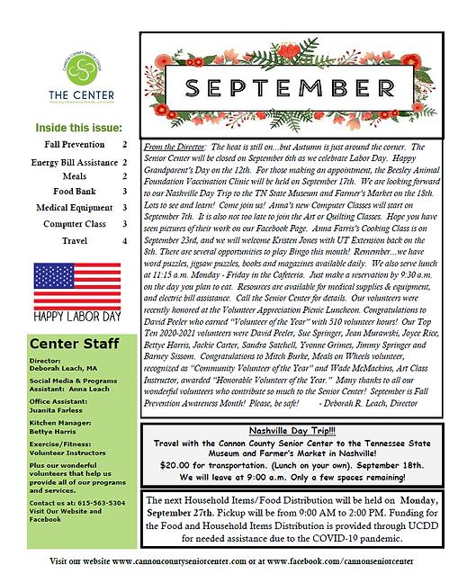 September Newsletter Clipart