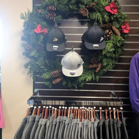 Christmas New Era Hats Display