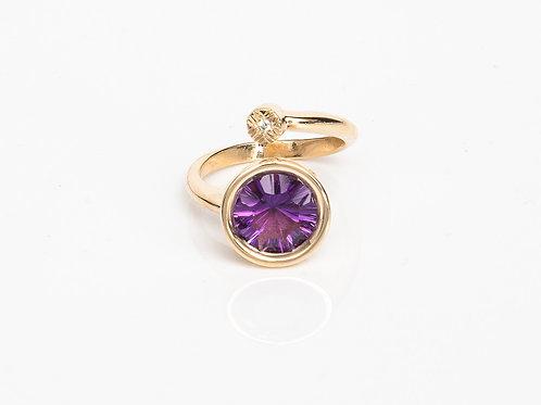 Purple Round Macaron Ring