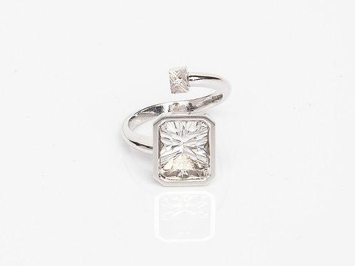 White Rectangular Macaron Ring