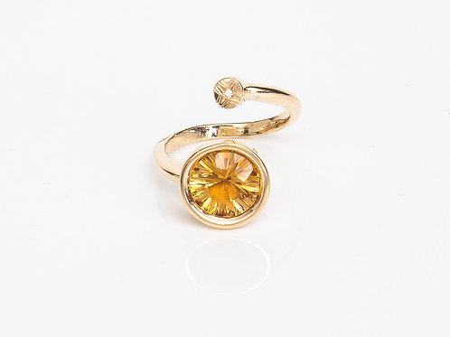 Yellow Round Macaron Ring