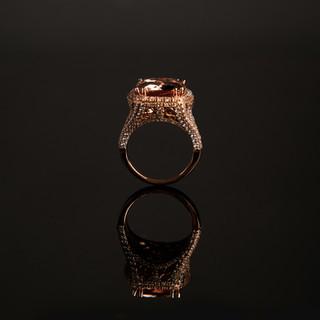 Morganite Gemstone Ring