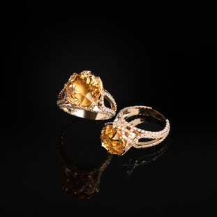 Citrine Sun Spangle Ring
