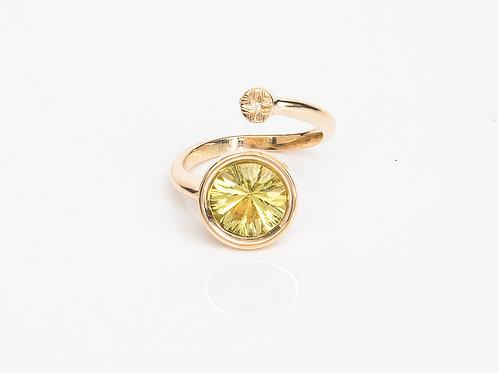 Lime Round Macaron Ring