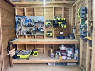 DIY Organized Workshop Shed