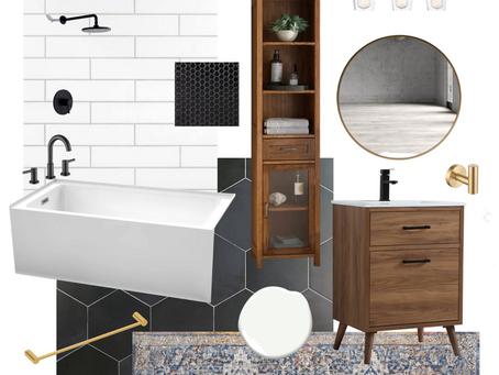 Mid Century Modern Bathroom Design