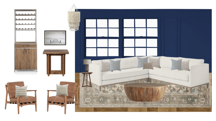 Blue and Neutral Den