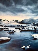 dettaglio oil painting iceland