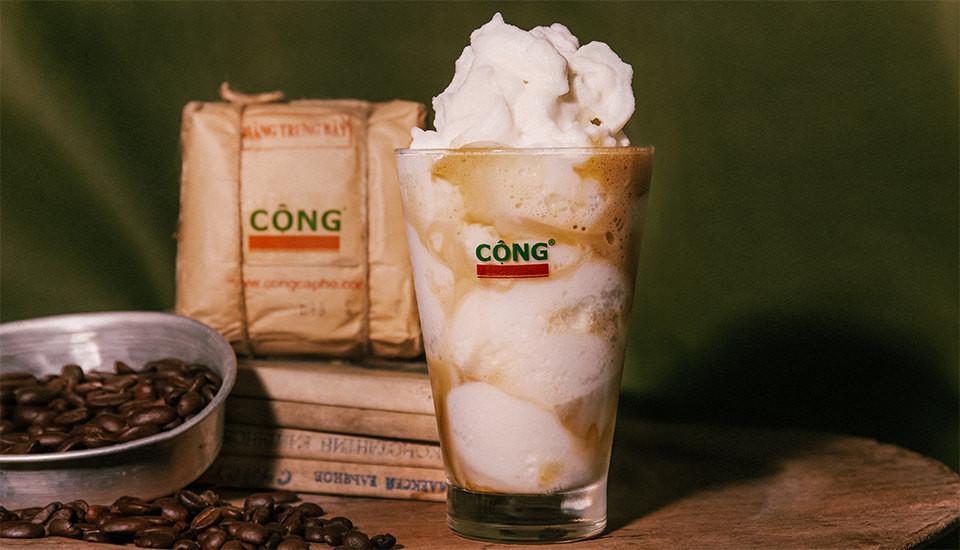 Cà phê cốt dừa của Cộng Cafe