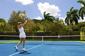 Cushioned Tennis Court Surface
