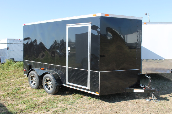 7x12TA Cargo Trailer Blacked Out
