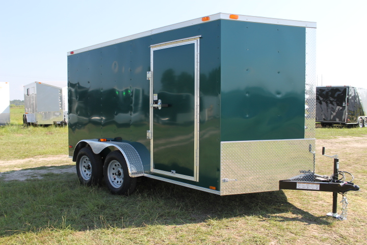 7x12 TA Enclosed Cargo Trailer Green