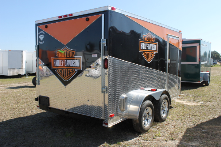 7x16 Harley Davidson Enclosed Trailer