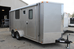7x16 Cargo Trailer Arizona Beige Screen Door