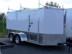 7X14 Enclosed Contruction Trailer
