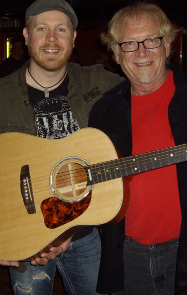 Dale and Brian Collins with his HS