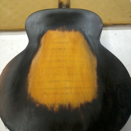 Gibson refinish (back, pre)