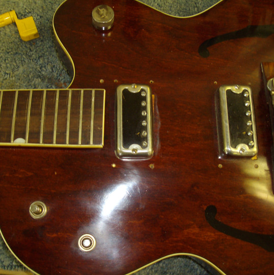 1962 Gretsch before repairs