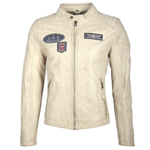 Biker jacket in aviator style