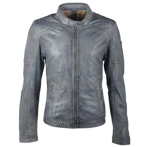 Biker jacket with subtle shoulder stitching