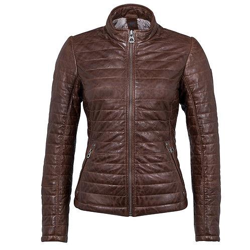Quilted, Padded biker jacket