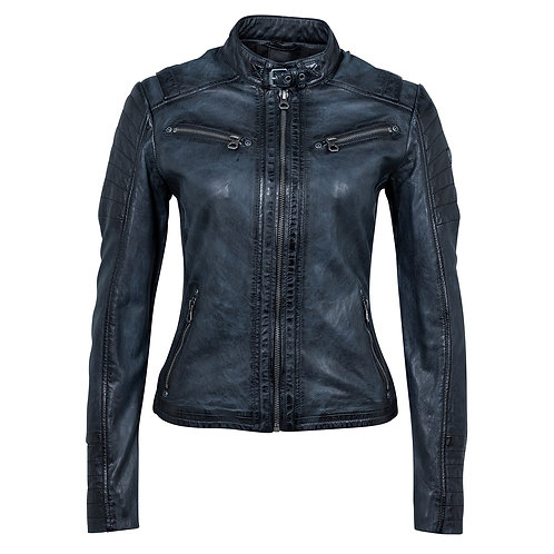 Women Biker jacket with quilted details