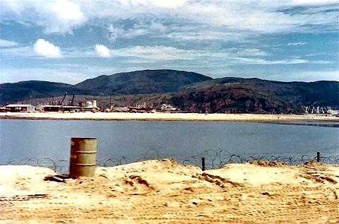 Beach next to PBR docks