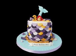Mermaid Scales Cake by bbkakes