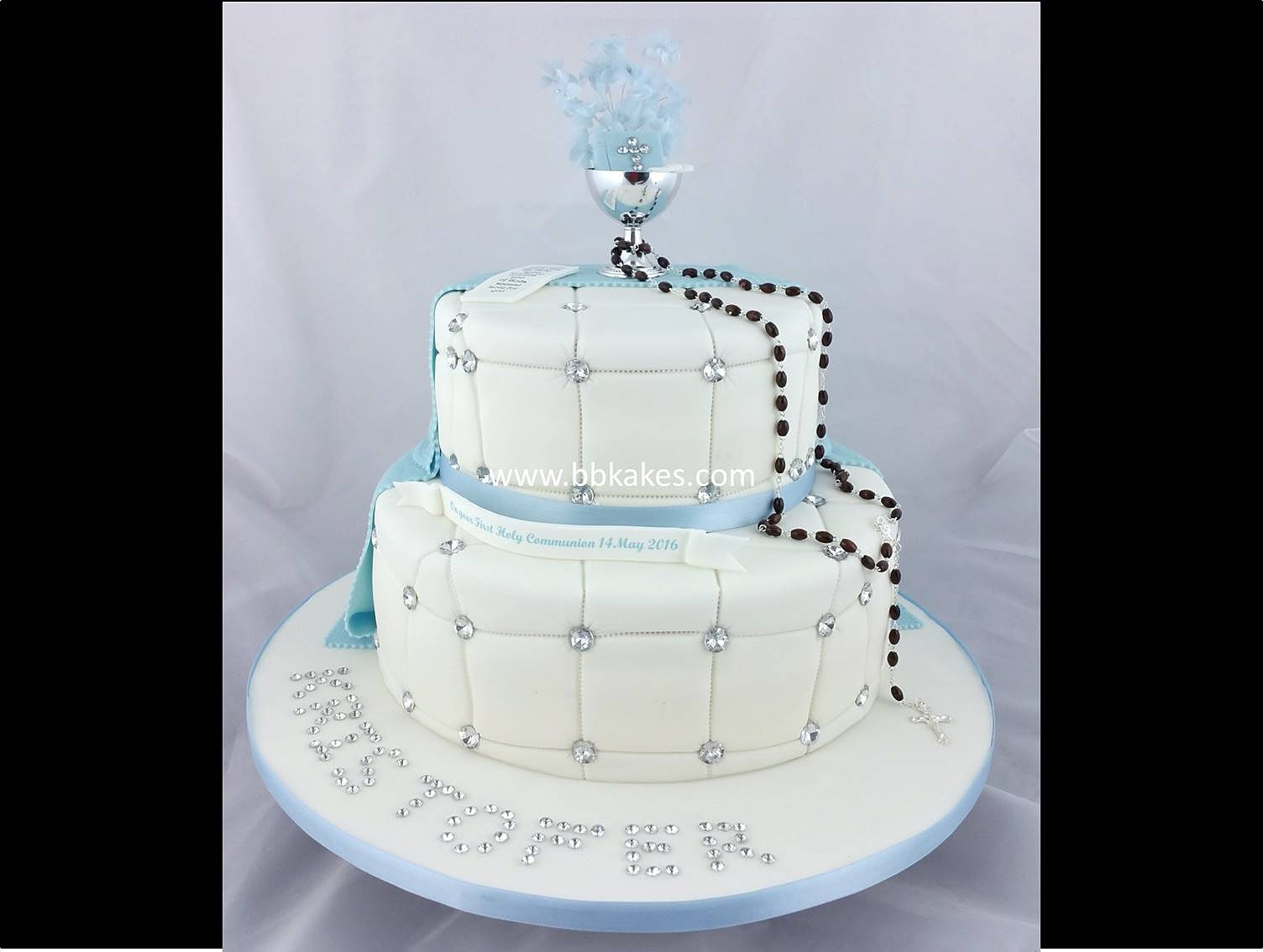 Two Tier Communion Cakes