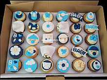 Blue Baby Boy Baby Shower Cupcake Collection Bbkakes