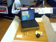 corporate cake for microsoft laptop