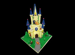 Two tier Beauty and the Beast Castle Cak