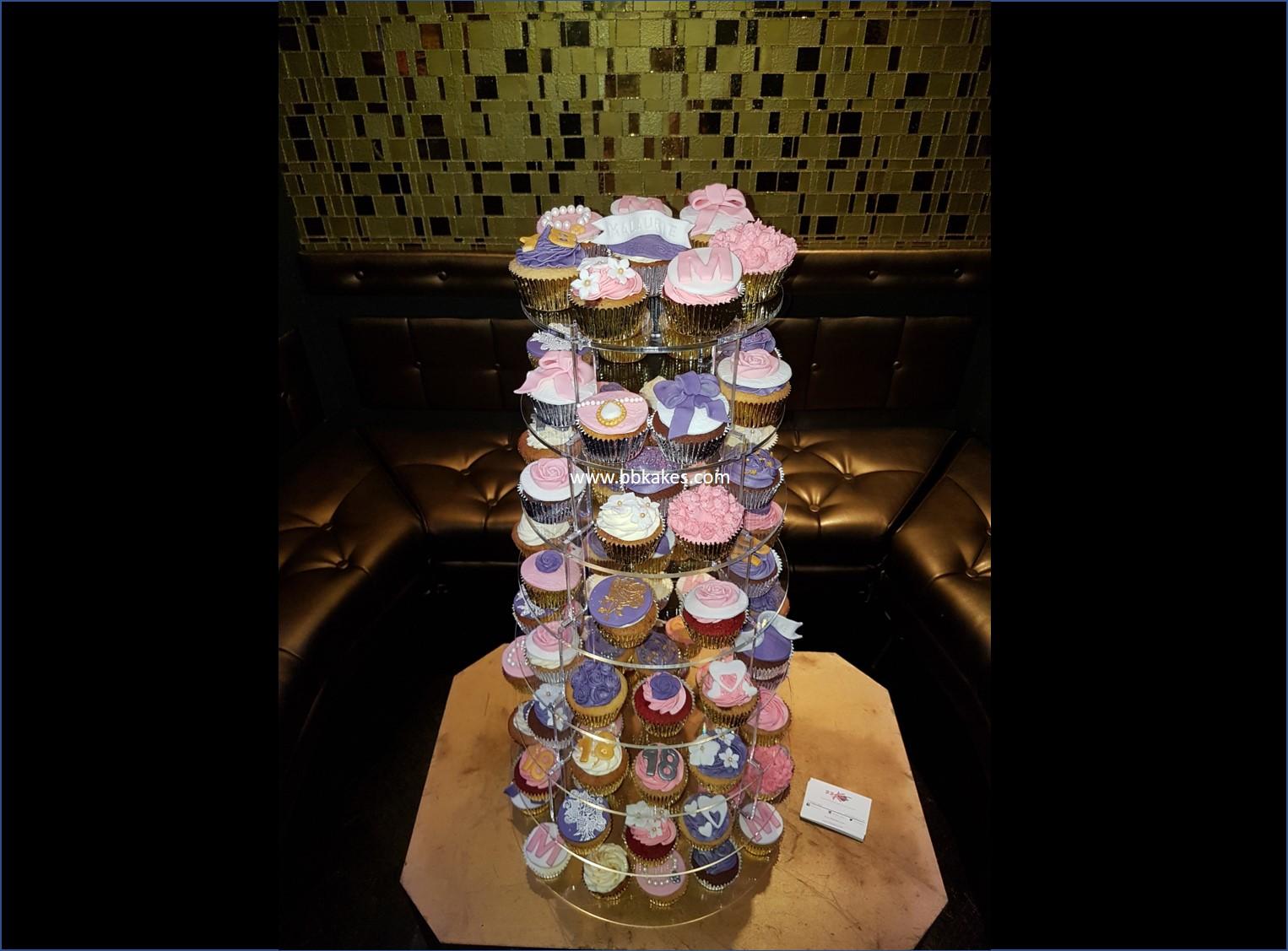 Pretty 18th Birthday Cupcakes bbkakes 4