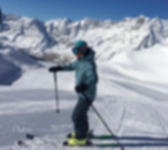 Ski teaching, demos