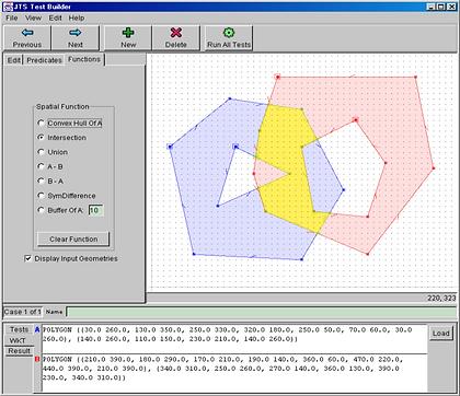 Screenshot of Java Topology Suite (JTS)