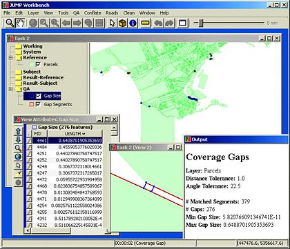 Screenshot of Java Conflation Suite (JCS)