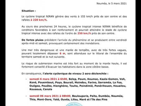 INFO CYCLONE - Communiqué n°3