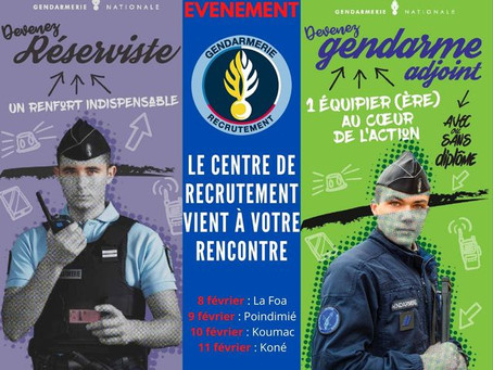 Recrutement - Gendarmerie Nationale