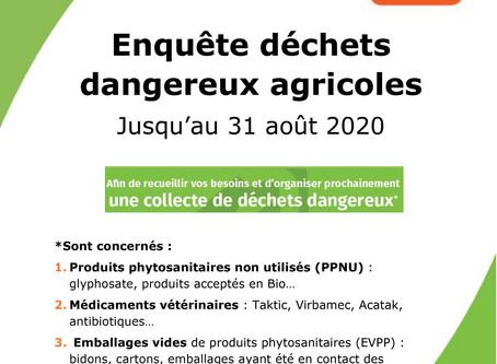 Enquête produits phytosanitaires non utilisés☢️♻️