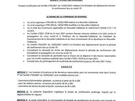 Arrêté municipal n°06/2021